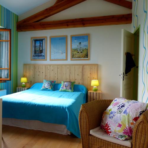 Les chambres de bellevue chambre d 39 h te turquoise aux for Chambre turquoise
